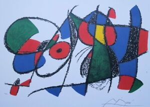 Joan Miro (After) : le Lion Boy Sleeping - Lithography Numbered And Signed,