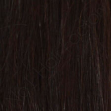 """18"""" long 7""""Inches Wide Clip In 100% Human Hair Extensions Dark Brown 2#"""