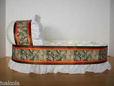 BOY CAMO BIG DIAPER BASSINET GIFT BASKET BABY SHOWER CAMOUFLAGE CENTERPIECE