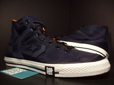 Converse POORMAN WEAPON HI UNDEFEATED NAVY BLUE WHITE BLACK ORANGE 116875 Sz 13