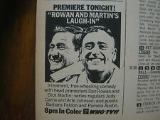 Ja-1968 TV Guide(ROWAN AND MARTIN'S LAUGH-IN PREMIERE/MARK SLADE/HIGH CHAPARRAL/
