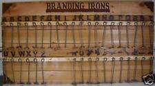 Western Alphabet and Numbers 1-8 Steak Wood Craft Branding Iron Irons
