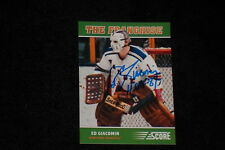 HOF ED GIACOMIN 2012-13 PANINI SCORE THE FRANCHISE SIGNED AUTOGRAPHED CARD #OS5