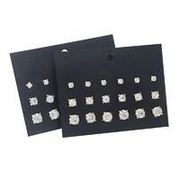 9 Pairs Fashion Men Women Elegant Rhinestone Crystal Jewelry Ear Stud Earrings J