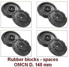 4 pcs Universal Scissor Lift Pads OMCN- D.145 mm-Ramp Rubber Blocks-spaces Italy