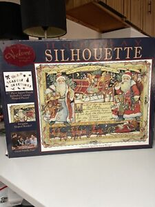 Susan Winger Christmas Jigsaw Puzzle Holiday Silhouette 577 Pieces 29 x 21 -Used
