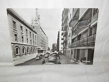 Vecchia cartolina foto d epoca di Bari Via Dalmazia strada scorcio palazzi case