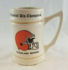 Vtg 1987 Cleveland Browns Afc Central Division Champions Player Roster Mug