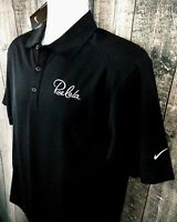 Nike Golf Mens Dri-Fit Polo Shirt Sz S Black Polyester Short Sleeve Rue LaLa New