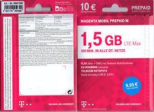 Telekom MAGENTA MOBIL M Prepaid 10 € Startguthaben NEU und OVP