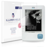 iLLumiShield HD Screen Protector w Anti-Bubble/Print 3x for Kobo eReader