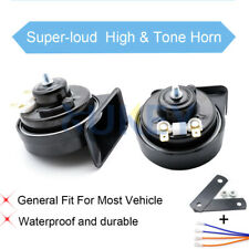 2X Car Snail Horn Waterproof Dual Pitch For Automobile Motorcycle Truck
