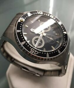 Men's Genuine Rotary Chronograph Black Designer Watch Panda Submariner Gb00014