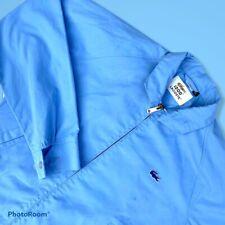 "Vintage 90s Izod Lacoste Blue Harrington Jacket Small P2P 21"""