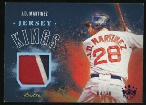 2020 Panini Diamond Kings J.D. Martinez Boston Red Sox Jersey Patch 4/20