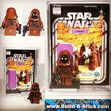 Star Wars JAWA MINIFIGURE 206b w/ Display Case Lego Custom Minifig