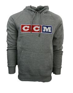 CCM Hockey F4315 Classic Fleece Hoody Senior/Adult-Athletic Grey