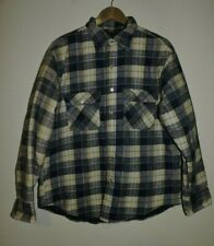 VINTAGE MONTGOMERY WARD INSULATED FLANNEL SHIRT QUILTED LINED Large L Plaid
