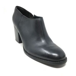 Women's Clarks Narrative Othea Ada Booties Clogs Shoes Size 6.5 Black Leather O6