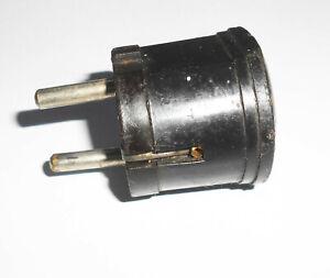 1 x alter Stecker Gerätestecker Schuko old vintage Steckdose 10A-16A 250V