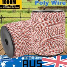 400m Roll Electric Fence Grunt Tape 12mm Polywire Poly Wire Highly Conductive Business & Industrial