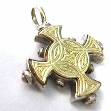 """Konstantino Pendant or Charm 18kt and Sterling Silver 1.125"""" Long"""