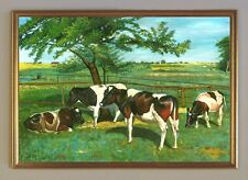 Kühe auf der Weide Kuh Herde Tag auf Leinwand Kxz XL 49