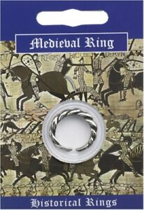 Medieval Double Twist Pewter Ring