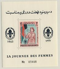 AFGHANISTAN - 1964 - Mi.Block-48A 6Afs Women's Day - Scouts - (perforated )**