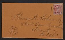 1872 Clarence Creek, C.W. RUS. Manuscript date of OCT 31. B/s Clarence. To Toron