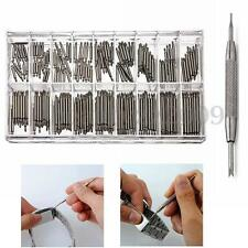 360Pcs 6-23mm Watch Band Spring Bars Metal Strap Link Pins + Remover Repair Tool