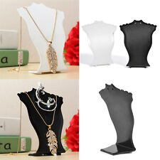 White Color Necklace Jewelry Display Holder Earring Pendant Stand Show Model NEW