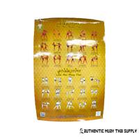 Muay Thai Boxing Traditional Boran Tactics Educational Teaching Chart Posters