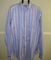 Thomas Dean medium long sleeve up down  shirt. 100% cotton.