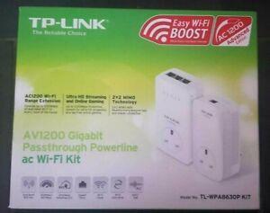 TP-Link TL-WPA8630P KIT AV1200 Gigabit Passthrough ac Wi-Fi Kit