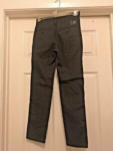 Vans Apparel Charcoal Pants Zip Button Fly Girls 8