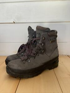 Lowa Women's Trekking Gore-Tex Leather Boots Grey Vintage Size UK 4.5 37 Germany