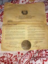 New Listing3x cuban carlos manuel cespedes Perucho figueredo signed document autograph