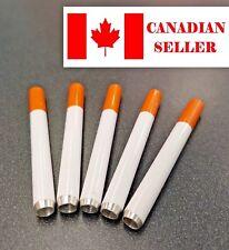Metal One Hitter Pipe. (cigarette shape), smoking. Canadian seller. 3+1