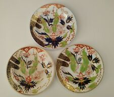 3 RARE 18th Century SPODE  PRE IMARI  ORIENTAL PLATES c 1795 ANTIQUE  BLUE GOLD