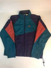 Vintage Gray Tag Nike Windbreaker Men's L Zipper Hood Jacket Rare Teal Purple