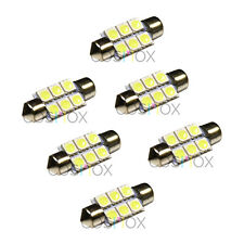 6 Pcs CosMox Xenon White 36mm Festoon 6 SMD LED Dome / Map / License Plate Panel