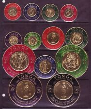 MINT TONGA GOLD COIN ISSUE: #128-33, C1-C6, CO-7. Full Set of 13. SCV $16.10