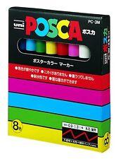 New Uni Posca Paint Marker Pen Set of 8 Colors PC-3M8C F/S Japan Import