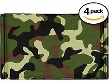 Swiss Safe Emergency Mylar Survival Blankets 4-Pack Military Army Camouflage