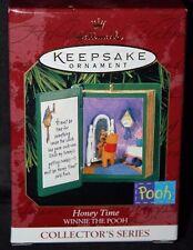 "Winnie The Pooh Hallmark Keepsake Series ""Honey Time"" Book Ornament 1999"