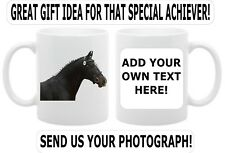 Equestrian Gift Mug, Customised with your Photograph and Add Text. Gift Box Inc.