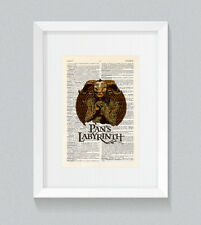 Pan's Labyrinth El laberinto del fauno Vintage Dictionary Book Print Wall Art