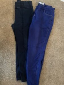 TWO PAIRS OF LADIES BLUE JEGGINGS LEGGINGS JEANS UK SIZE 18 GREAT CONDITION