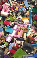 1 POUND OF LEGO FRIENDS PIECES BULK MIXED BRICKS LOT + FREE FRIEND GIRL MINIFIG